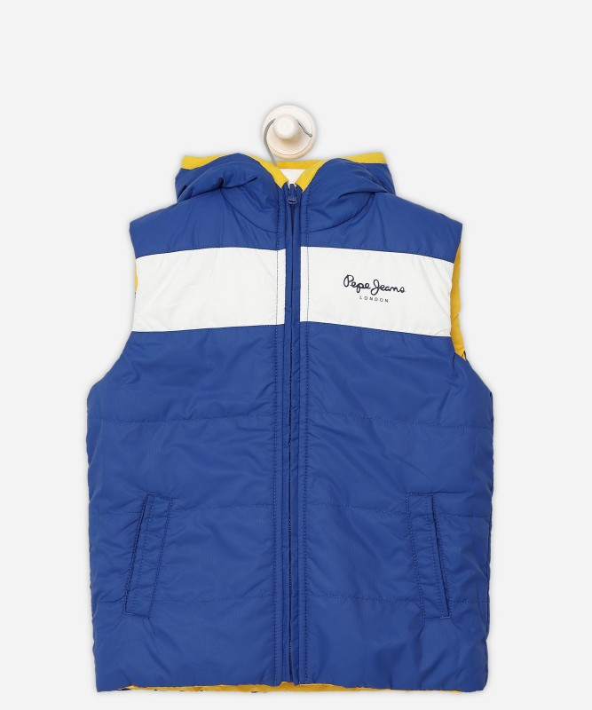 Pepe Jeans Sleeveless Solid Boys Jacket