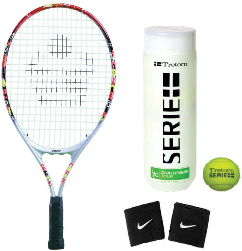 Cosco Drive 21 ( Junior Size ) ( Age Group 4 to 6 Years ) Tennis Racquet ( Color on Availability) with Tennis Ball