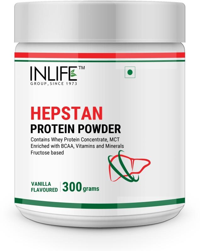Inlife Hepstan Protein Powder Liver Support Vitamins Minerals BCAAs 300 g (Vanilla) Whey Protein(300 g, Vanilla)