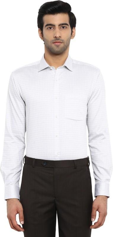 Park Avenue Men Checkered Formal Grey Shirt