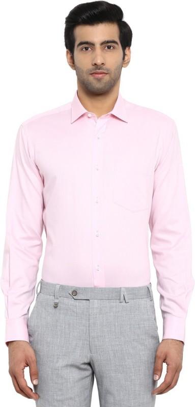 Park Avenue Men Solid Formal Pink Shirt