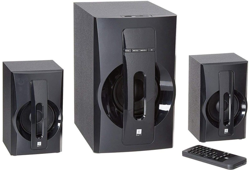iball Tarang Lion Bluetooth 2.1ch Exclusive 40watts wooden cabinet and speakers for realistic sound Bluetooth Home Theatre(Black, 2.1 Channel)