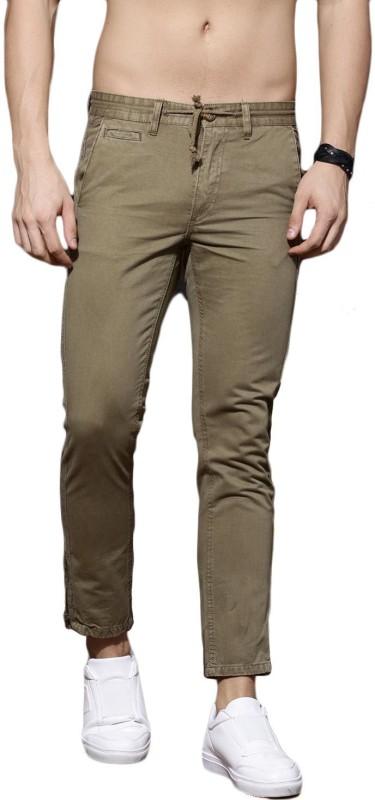 Roadster Slim Fit Men Green Trousers