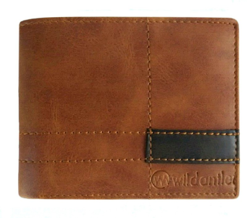 Wildantler Men Brown Artificial Leather Wallet(6 Card Slots)