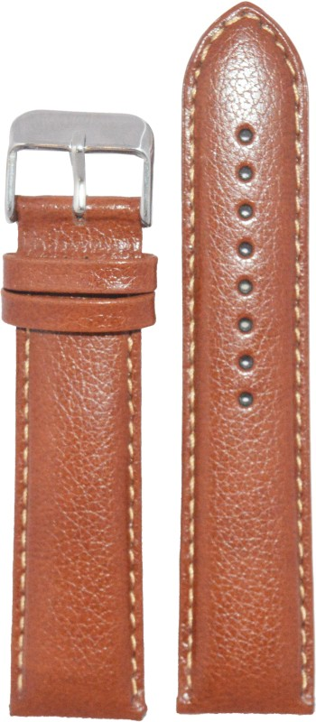 kolet Padded Dotted 24T 24 mm Leather Watch Strap(Tan)
