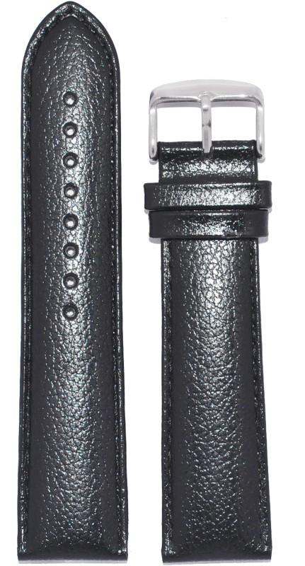 Kolet Dotted 24B 24 mm Leather Watch Strap(Black)