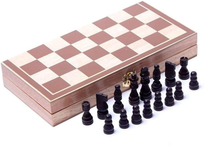 QUINERGYS 15-Inch Standard Wooden Chess Set 15 inch Chess Board(Brown)