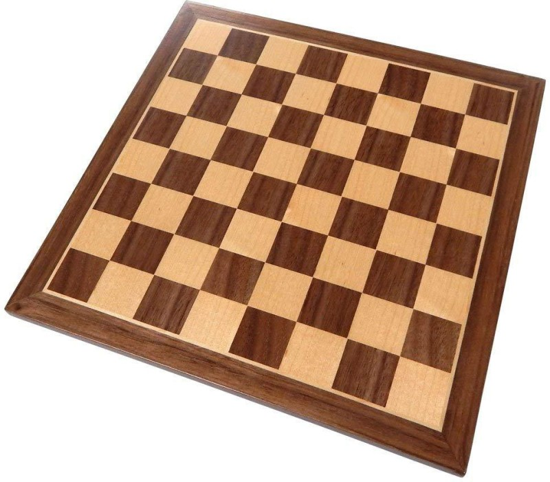 QUINERGYS Chess Board with Inlaid Walnut Wood – Board 13 inch Chess Board(Beige)