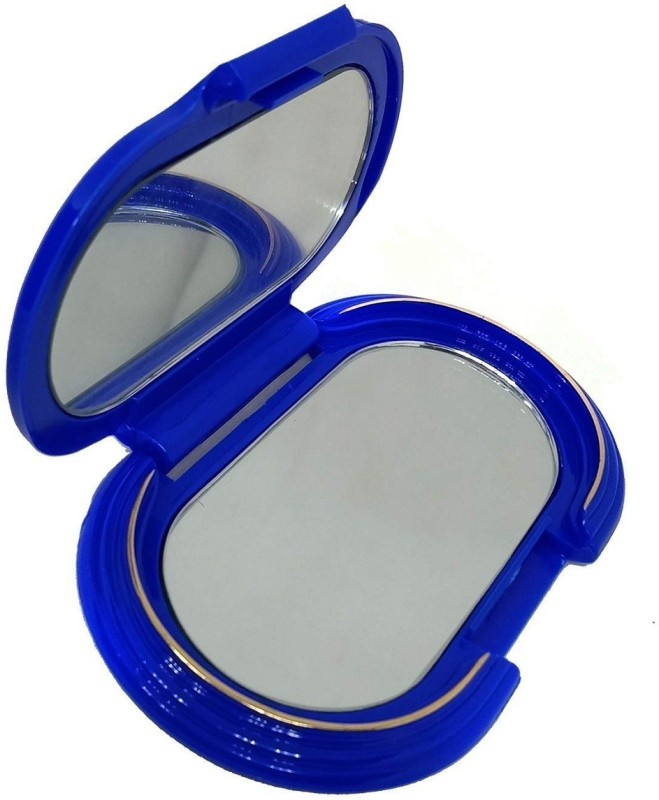 Bueno Small Pocket Mirror for Women and Girls Makeup Use, 35 Grams, Blue, Pack of 1