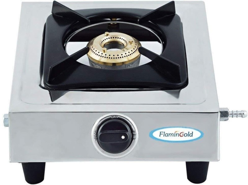 flamingold 1 Burner Gas Stove Single Stainless Steel Manual Gas Stove(1 Burners)