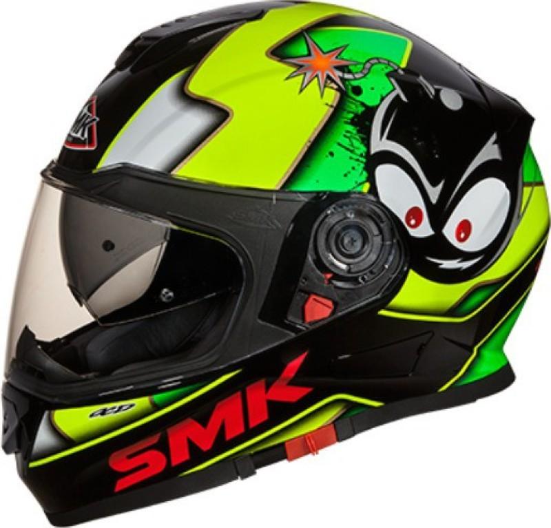 smk CARTOON GL 241 Motorbike Helmet(Black)