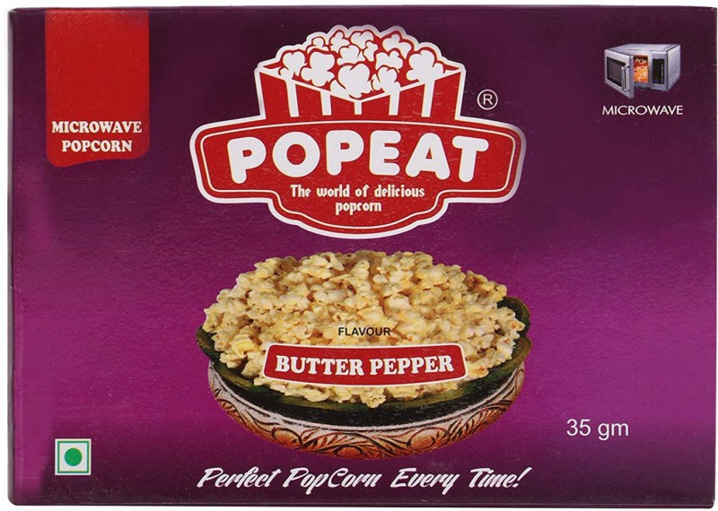 PopEat Butter Pepper Butter Pepper Popcorn(210 g, Pack of 6)
