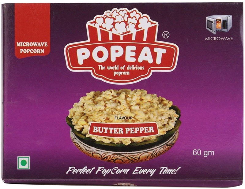 PopEat Butter Pepper Butter Pepper Popcorn(720 g, Pack of 4)