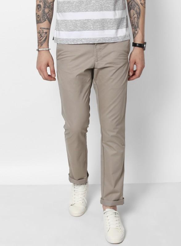 Monte Carlo Slim Fit Men Grey Trousers