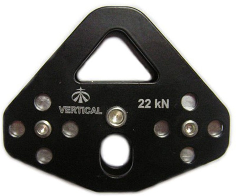 Vertical Tandem Pulley Steel Ziplining Double Pulley Climbing Pulley(Black)