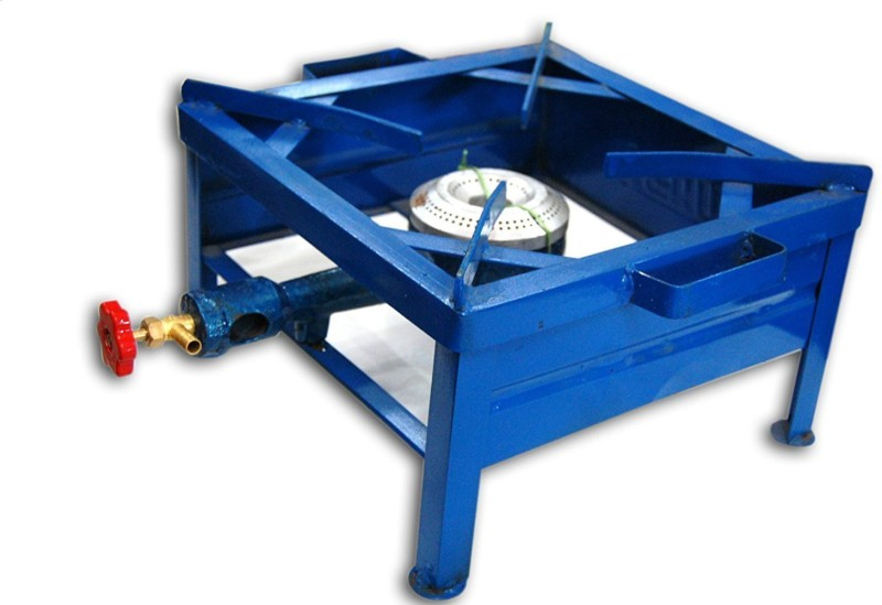 CAY Single Burner 12*12 Blue Color Square Iron Bhatti/ Gas stove Perfect for Party, Outdoor, Picnic,Camping,Traveling Iron Manual Gas Stove(1 Burners)