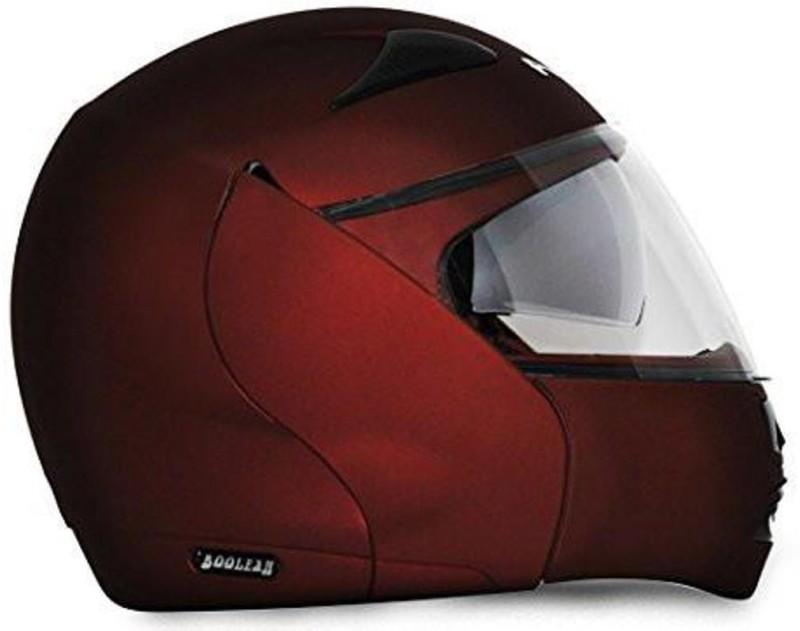 VEGA BOOLEAN FLIP UP BURGUNDY Motorbike Helmet(Burgundy)