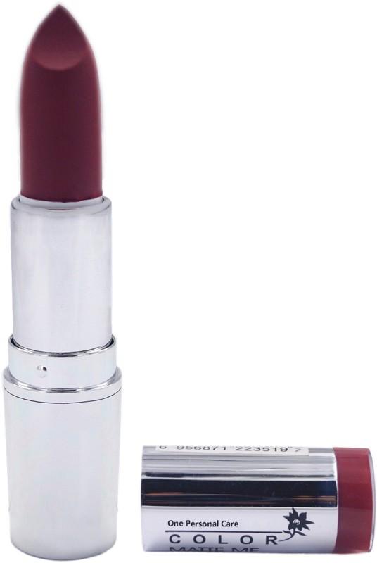 One Personal Care Pro Color | Mate e Lipstick 105(Purple, 3.8 g)