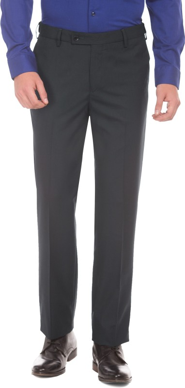 Arrow Regular Fit Men's Blue Trousers