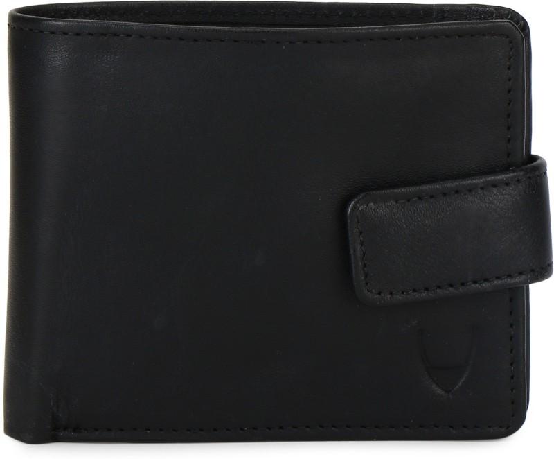 Hidesign Men Black Genuine Leather Wallet(12 Card Slots)