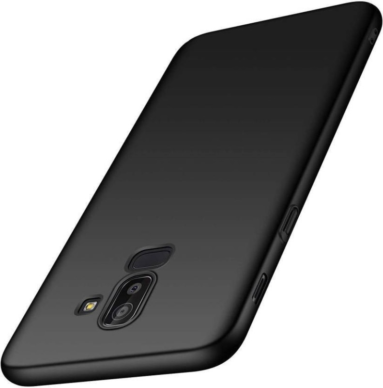 DSCASE Back Cover for Samsung galaxy j8(black, Shock Proof, Rubber)