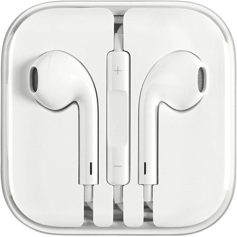 TopamTop Original High Quality Earphone for Apple iphone 5,5s,5c,6,6s,6plus,6splus,7,7plus,ipad & Ipod Headset with Mic (White, In the Ear) Headset with Mic (White, In the Ear) Wired Headset with Mic(White, In the Ear)