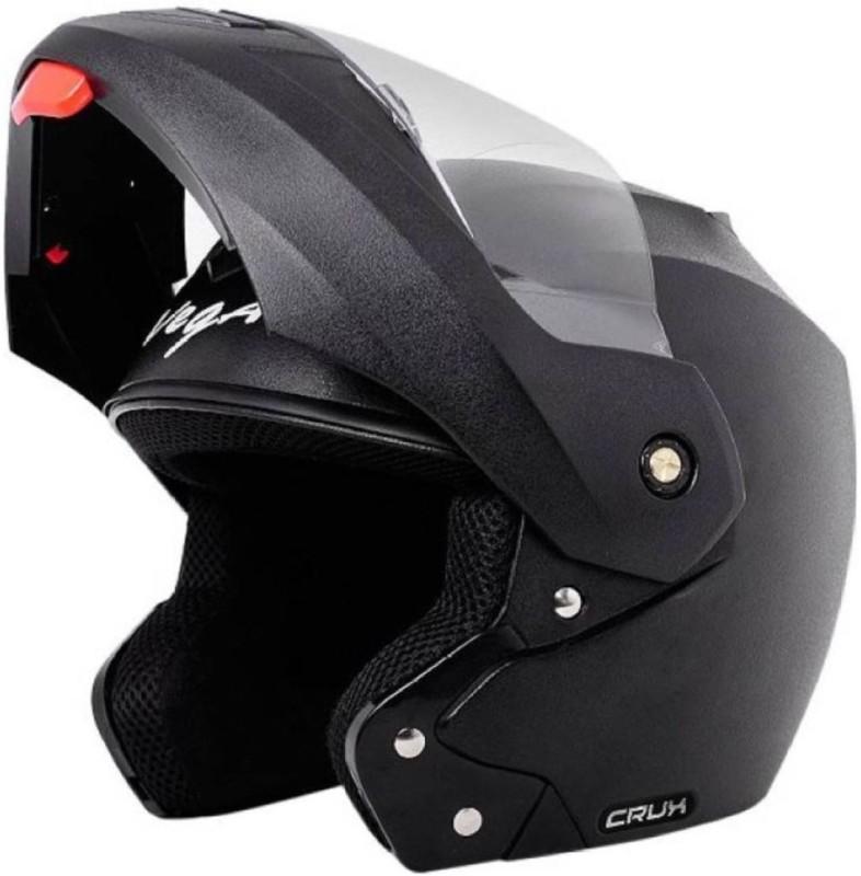 VEGA CRUX DX Blue Motorbike Helmet(Black)