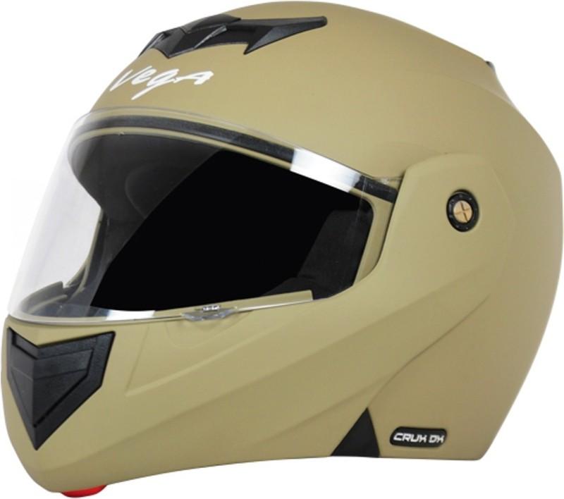 VEGA CRUX DX Dull Battle Green Motorbike Helmet(Dull Desert Storm)