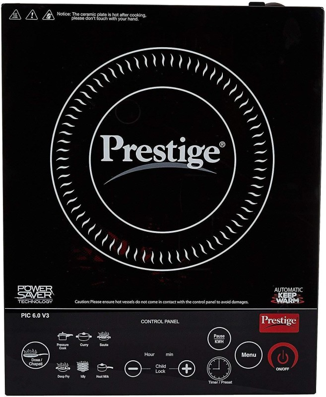 Prestige PIC 6.0 Induction Cooktop(Black, Touch Panel)