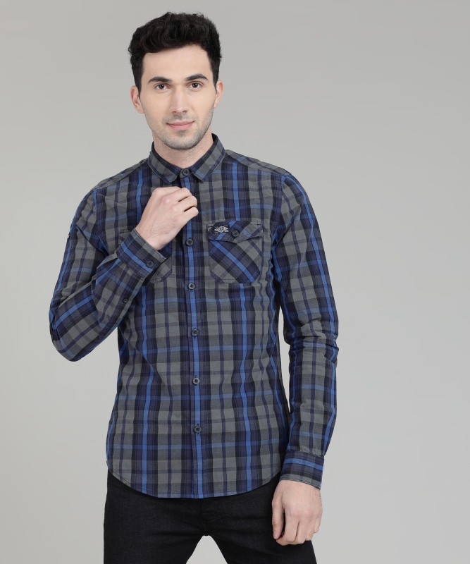 Superdry Men Checkered Casual Multicolor Shirt
