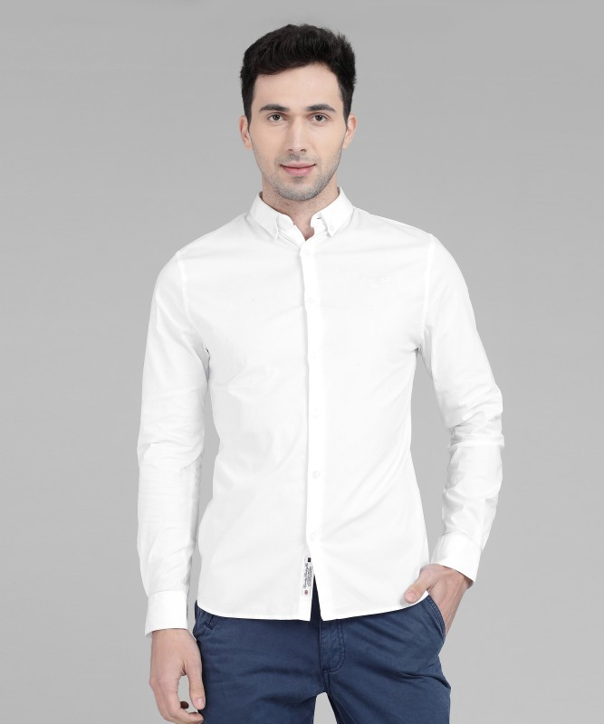 Superdry Men Solid Casual White Shirt