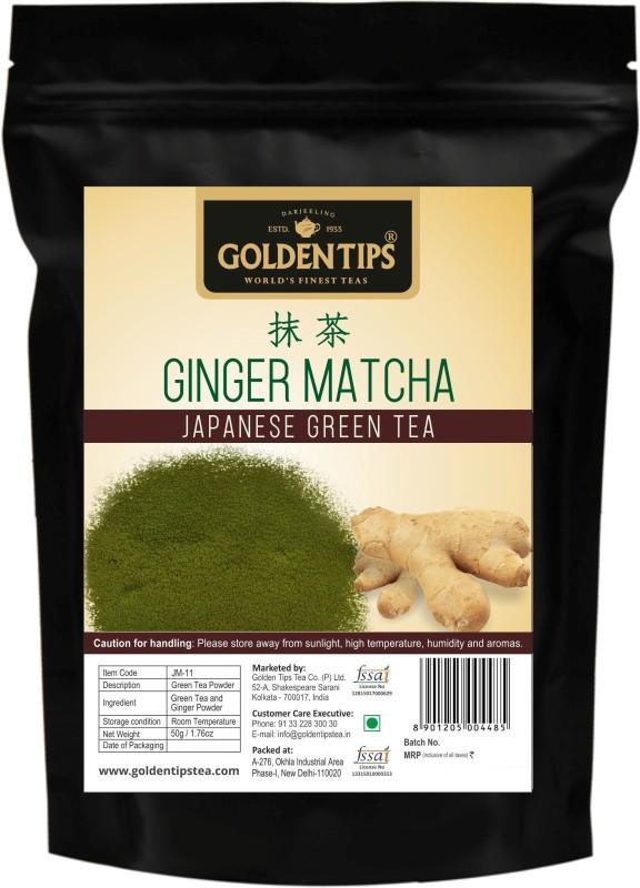 Golden Tips Japanese Matcha Green Tea Ginger Matcha Tea(50 g, Pouch)