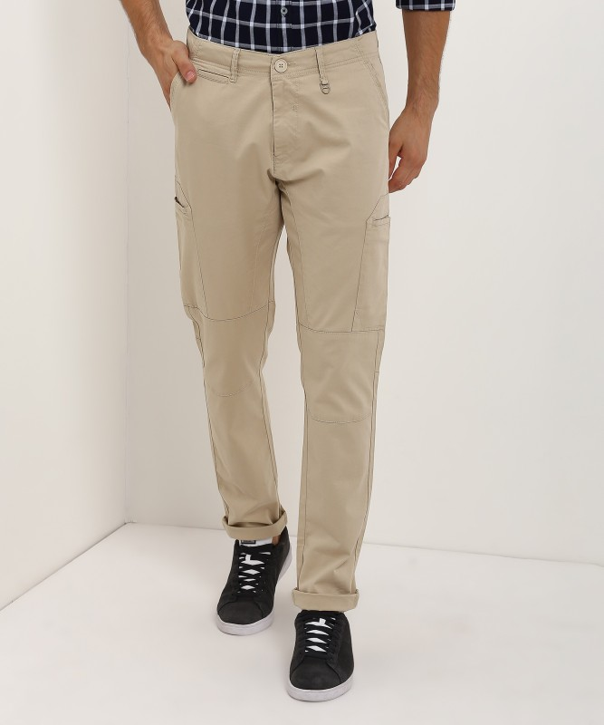 Spykar Spykar Regular Fit Mens Beige Trousers