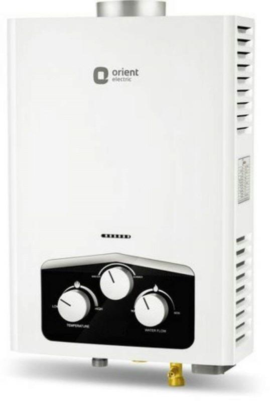 Orient 6.0 L Gas Water Geyser(White, GAS GEYSER)