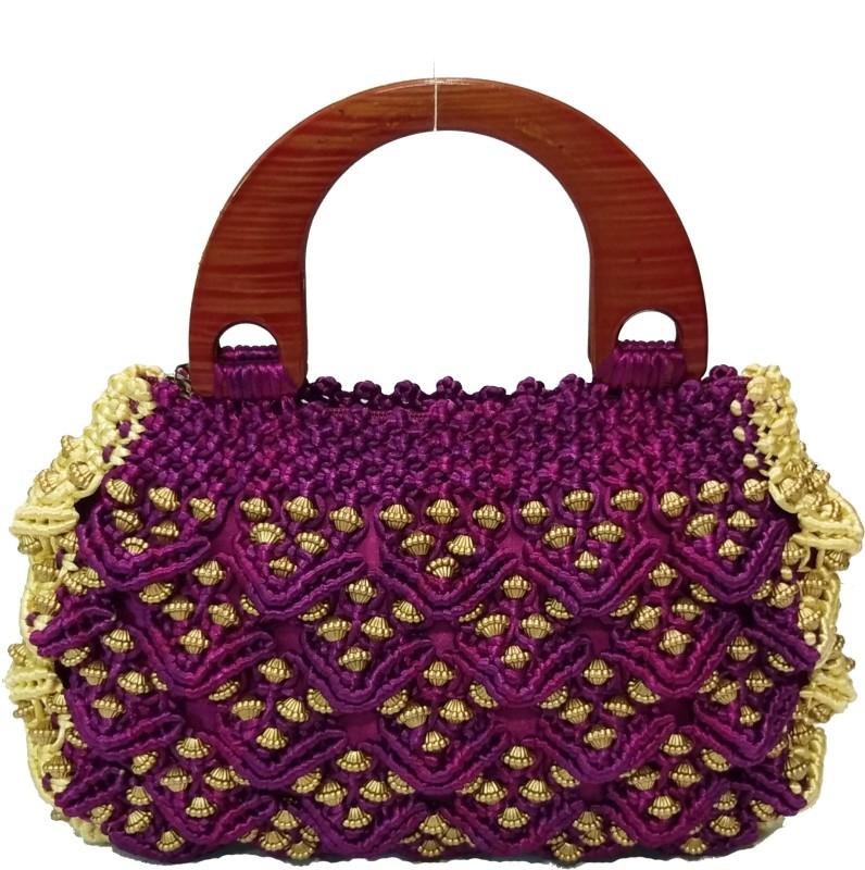 RITA'S Women Purple, Gold Hand-held Bag