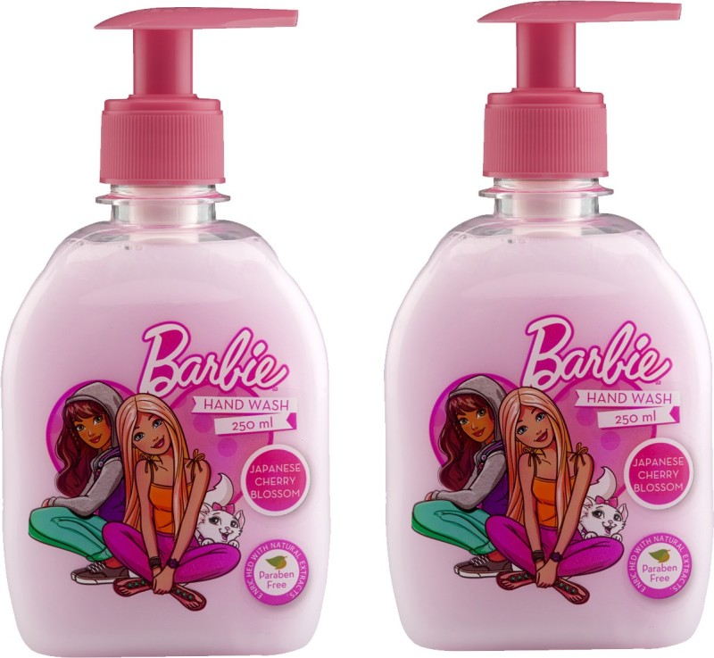 Barbie Handwash Japanese Cherry Blossom Pump Dispenser(2 x 125 ml)