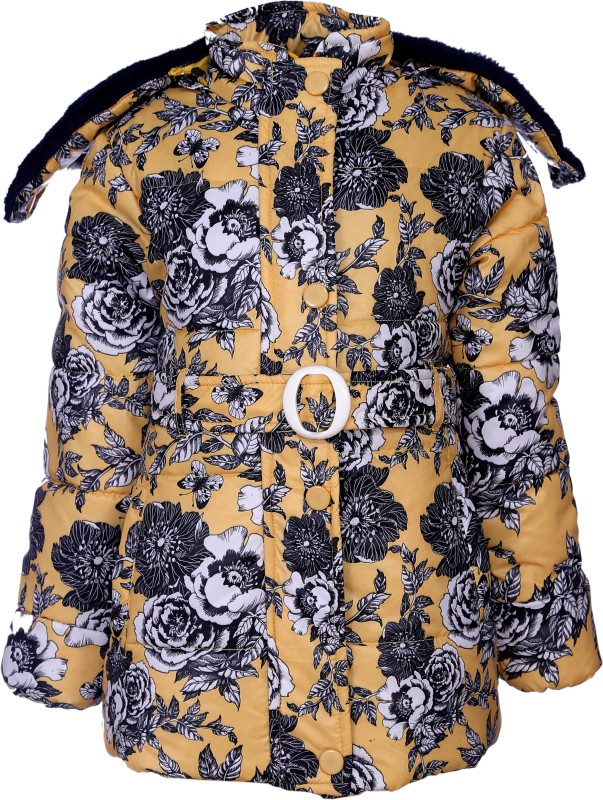 Come In Kids Full Sleeve Floral Print Girls Jacket