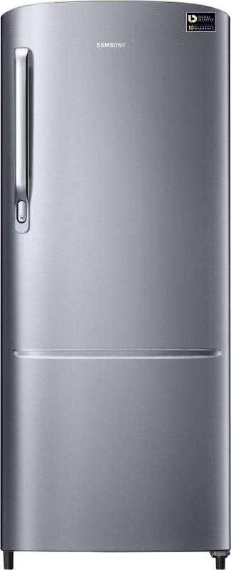 Samsung 212 L Direct Cool Single Door 3 Star Refrigerator(Elegant Inox, RR22M272ZS8/NL)