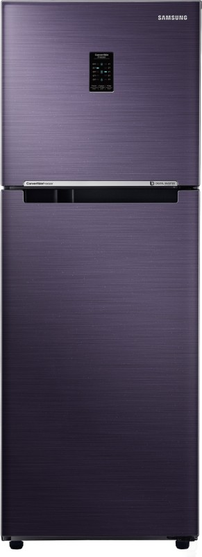 Samsung 253 L Frost Free Double Door 2 Star Convertible Refrigerator(Pebble Blue, RT28K3722UT/RT28N3722UT-HL)