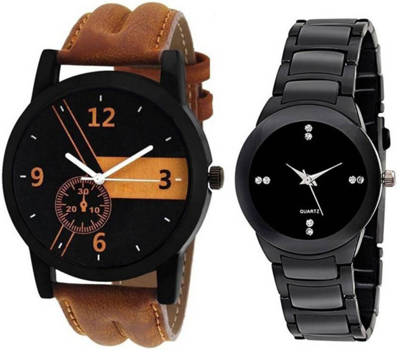 swanos New Collection Watch Color Brown & Black watch Belt Leather & Bracelet Type watch For _Men & Women Analog Watch - For Men & Women