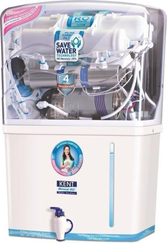 Kent GRAND PLUS(11001) 8 L RO + UV + UF + TDS Water Purifier(WHITE & BLACK)