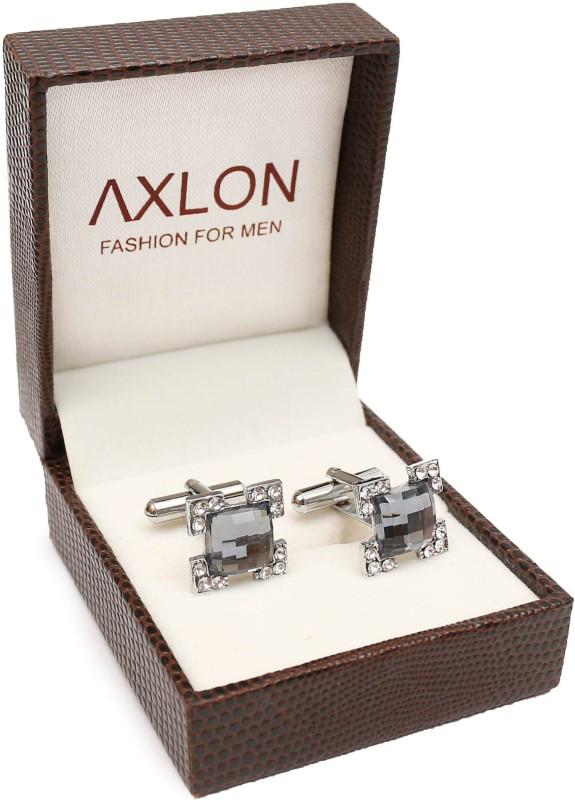 AXLON Brass Cufflink Set(Silver)