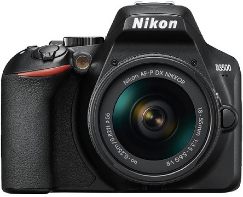Nikon D3500 DSLR Camera Body with 18-55 mm f/3.5-5.6G VR Lens(Black)