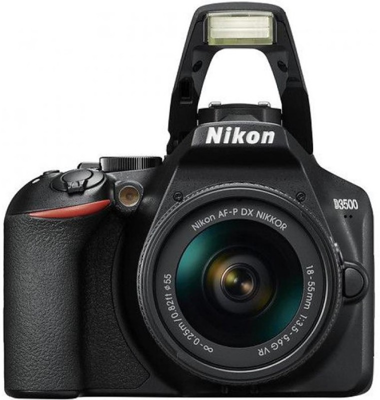 Nikon D3500 DSLR Camera Body with 18-55 mm f/3.5-5.6 G VR and AF-P DX Nikkor 70-300 mm(Black)