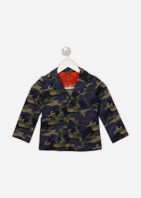 United Colors of Benetton Full Sleeve Printed Boys Jacket