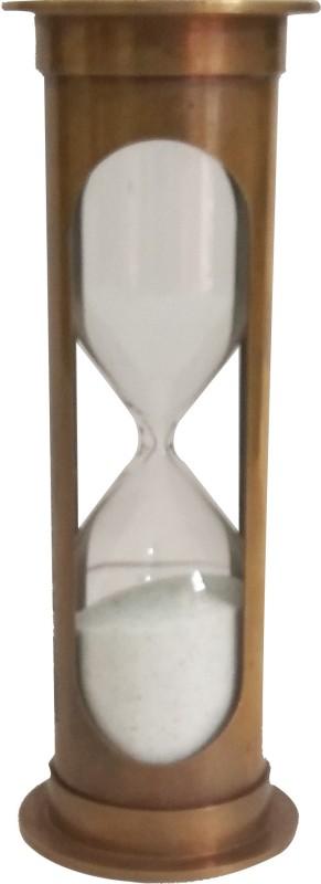 DAMDAR ONLINE BAZAAR Five (5) Minutes Brass Sand Timer Hour glass sandglass sand clock{(INCH):5.5x2x2/188 GR/DGR1021} Sand Clock