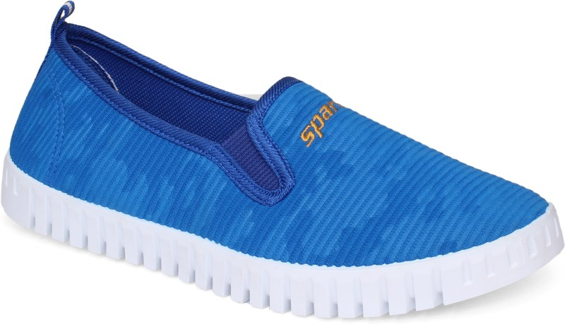 Sparx Women SL-113 Blue White Loafers For Women(Blue)