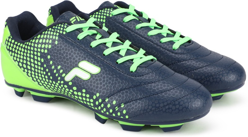 Fila OVER PLAY Football Shoes For Men(Green, Navy)
