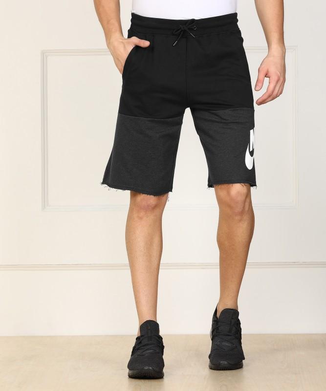 Nike Printed Men Black, Grey Sports Shorts