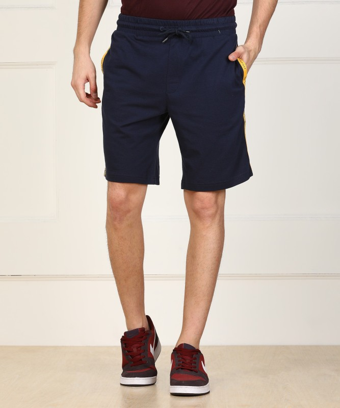 Tommy Hilfiger Solid Men Dark Blue Basic Shorts